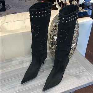 Work in Progress Suede High Heel Boots Size 36